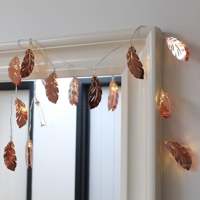 Lisa Angel Copper Feather LED String Light