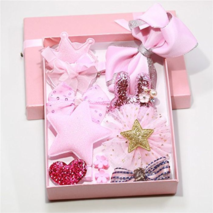 10 Piece Hair Bow Set