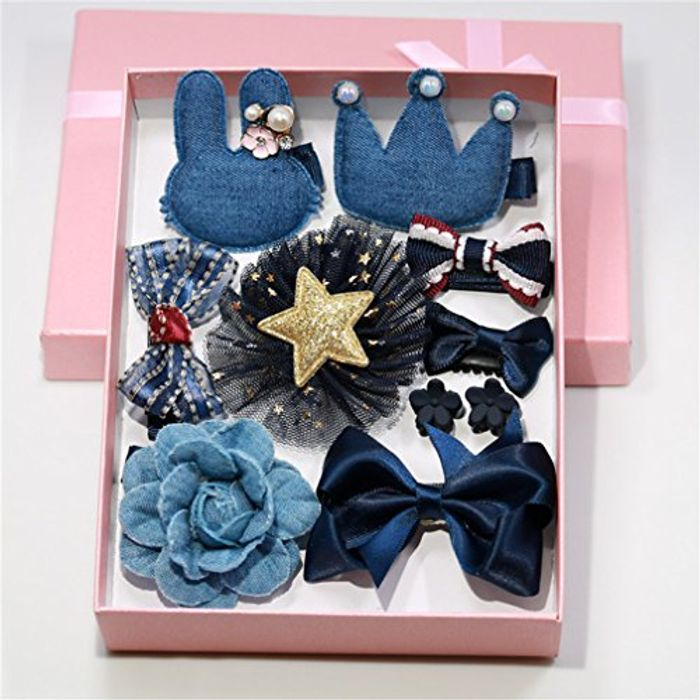 10 Piece Hair Bow Set FREE Delivery