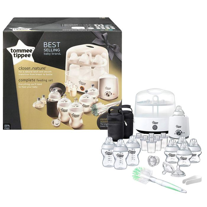 Tommee Tippee Complete Feeding Kit - White FREE C&C