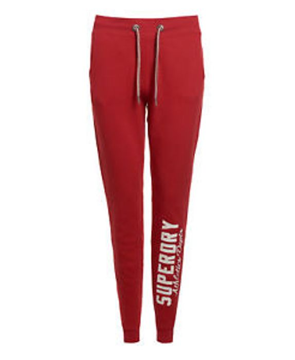 Womens Superdry Factory Second Jamie Relaxed Joggers Rush Red (XS)