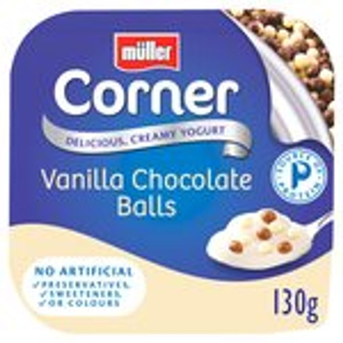 Muller Corners. Light or Rice Any 10 for £3.00