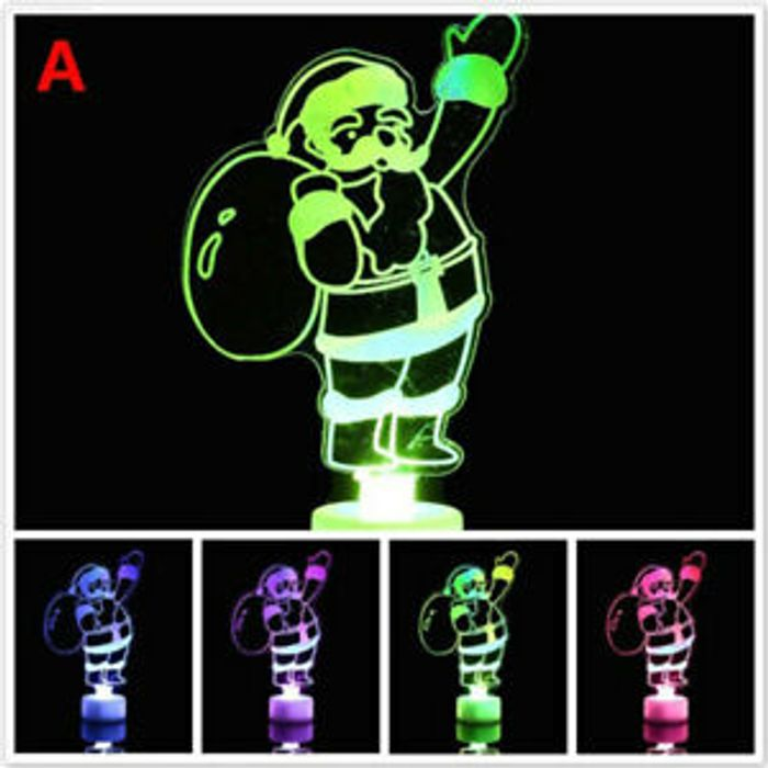 Ornament Xmas LED Toy Creative Gift Santa Claus LED Christmas Decor Home