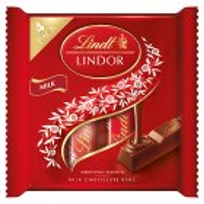 Lindt Lindor Milk Chocolate Bars 4x25g 1 At Sainsburys
