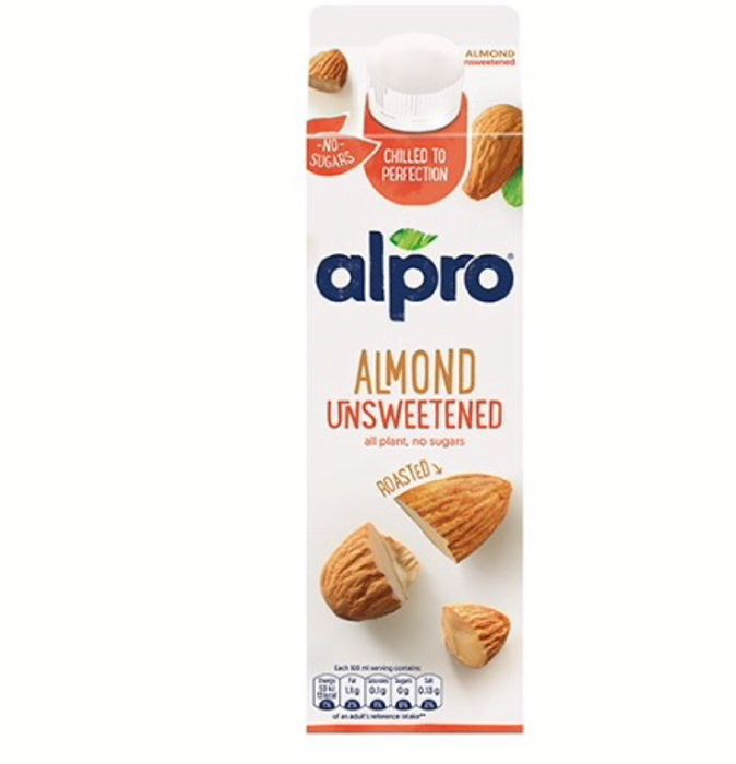 Alpro Almond Unsweetened Chilled 5p a Litre