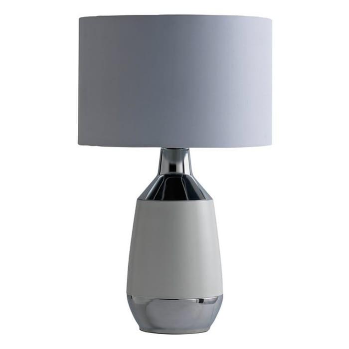 Argos Home Pluto Table Lamp - White & Chrome