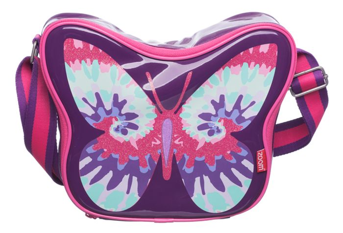 Cheap Zoom Pink and Purple Butterfly Lunch Bag with £7.5 Discount