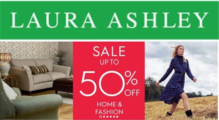 Laura Ashley HOME & FASHION Sale - Now On