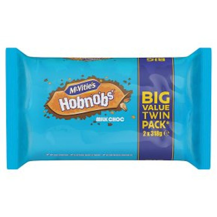 McVitie's Hobnobs Milk Choc - Twin Pack - Half Price!