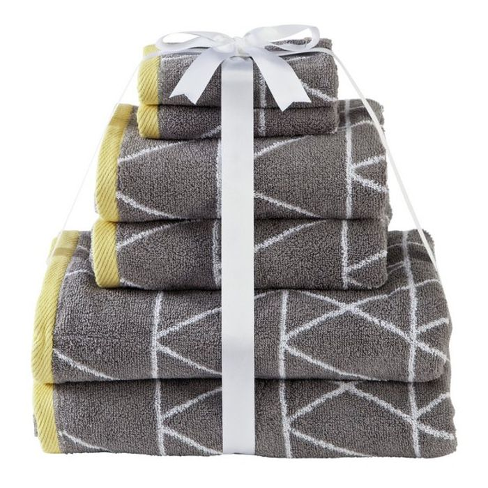 Best Price - Home 6 Piece Towel Bale - Geometric - at Argos