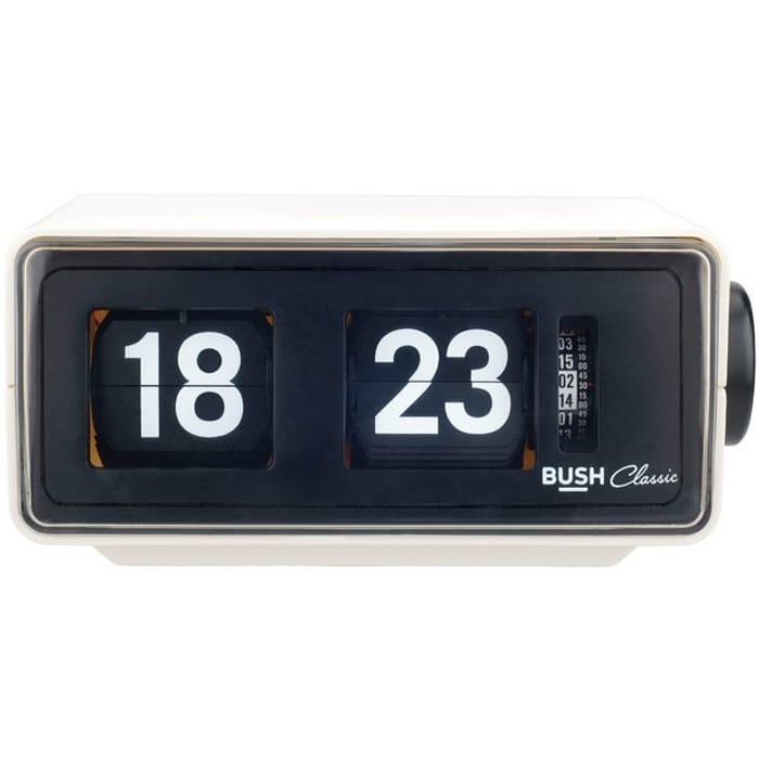 Bush Classic Flip Radio Alarm Clock - Cream881/7381