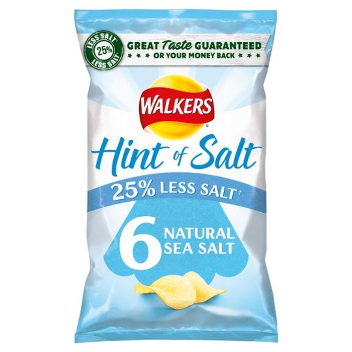 Free New Walkers Hint of Salt Crisps 6 Pack with Your Sainsburys Online Order
