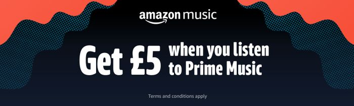 £5 Code by Listening to a Full Track on Prime Music (Minimum Spend £25)