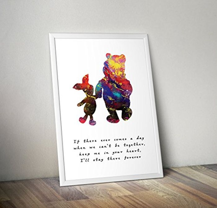 Best Price! Winnie the Pooh - Inspired - Quote - Watercolour Poster Print Gifts
