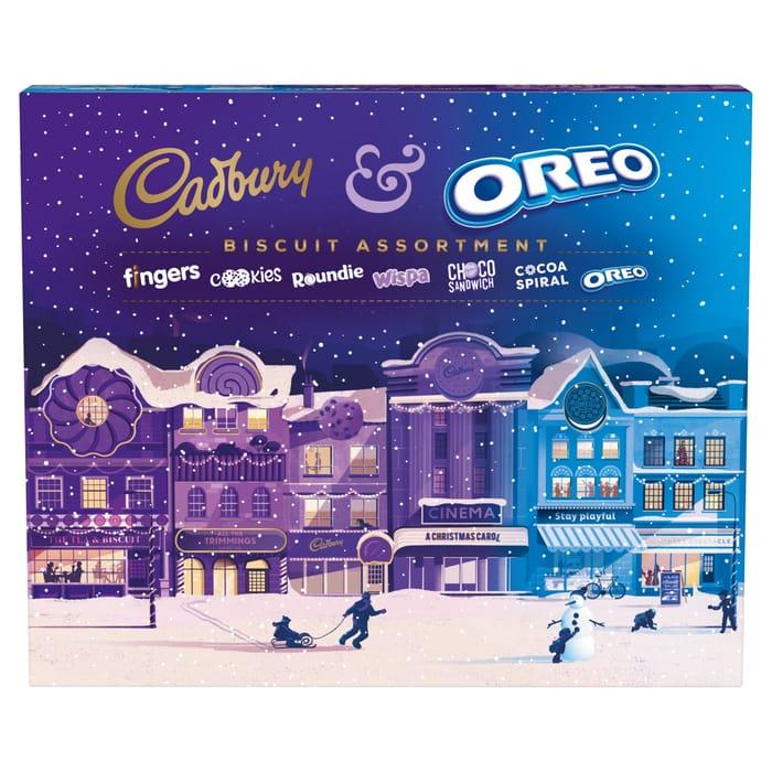 Cadbury & Oreo Christmas Biscuit Assortment 500G