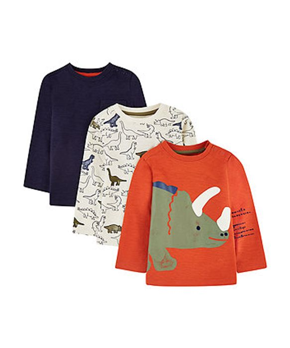 Mothercare Dinosaur T-Shirts 3 Pack