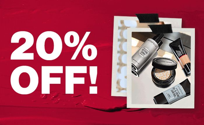 20% off plus Free Delivery at Smashbox