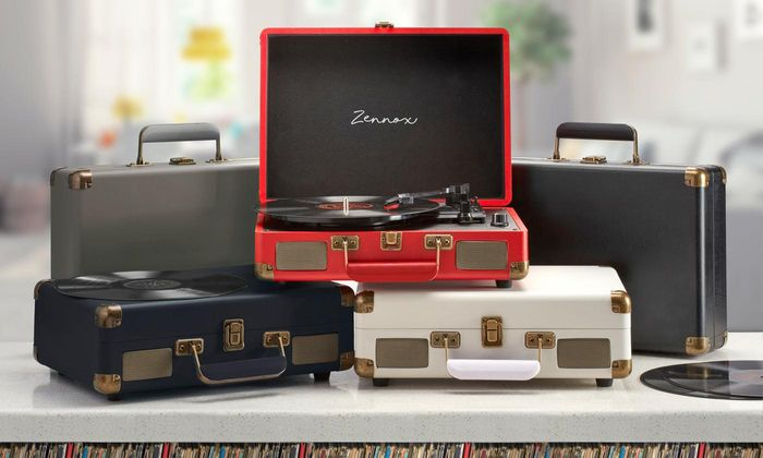 Zennox Retro-Style Club Turntable Record Player 3 Colours