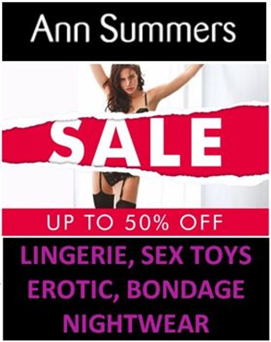 Ann Summers SALE - up to 50% Pretty Lingerie & More