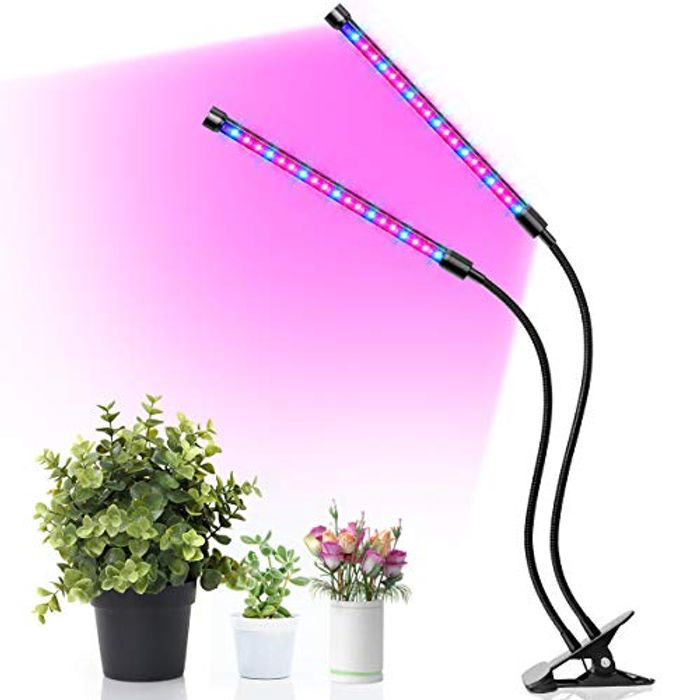 47% off LED Plant Light 18W UV Grow Lamp with Auto Timer 3/9/12H, 3 Modes