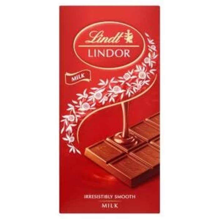 Lindt Lindor Chocolate Bar Milk 100g
