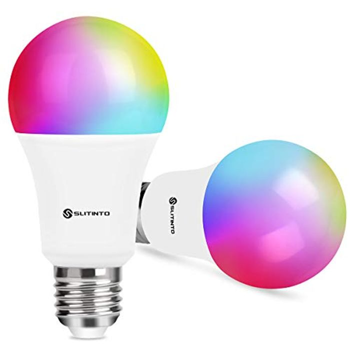 Deal Stack - 2 Smart WiFi LED Colour Changing Light Bulbs £14.99