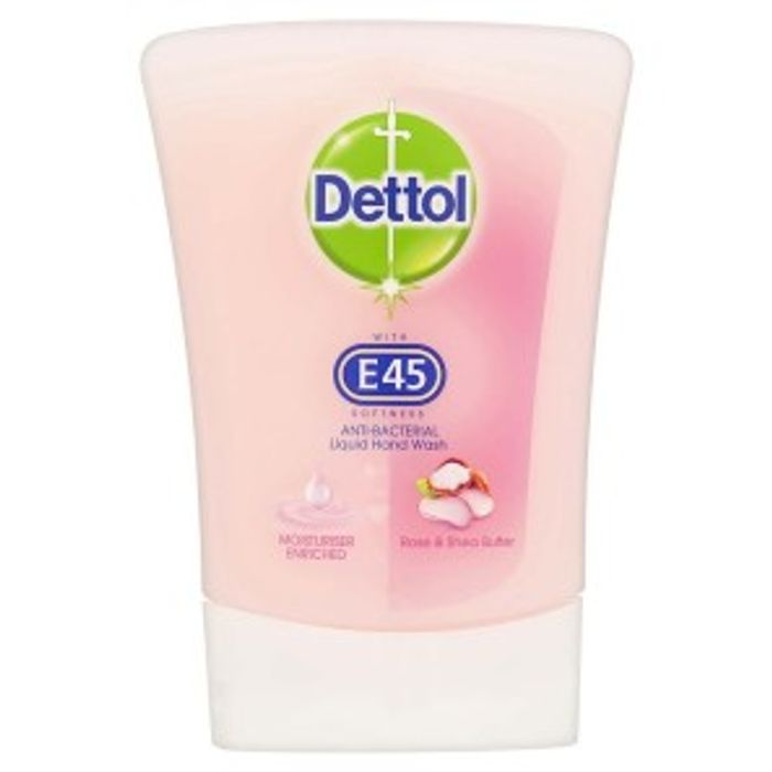 Dettol Refill with E45 Rose & Shea 250ml