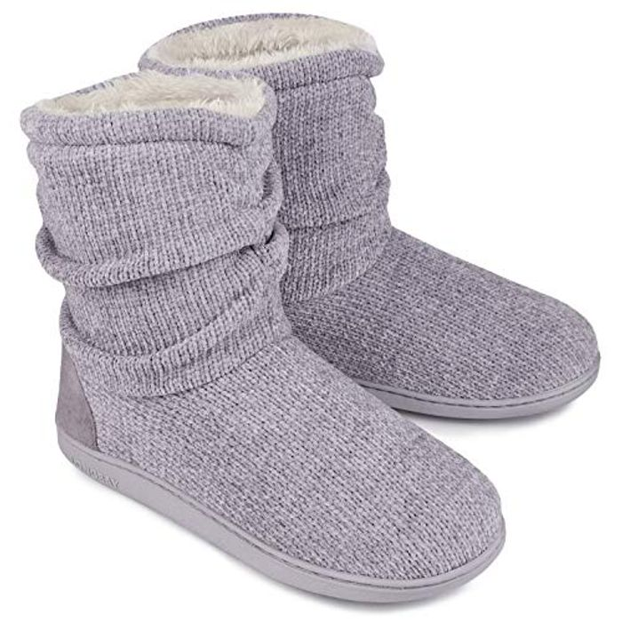 LongBay Ladies' Chenille Knit Bootie