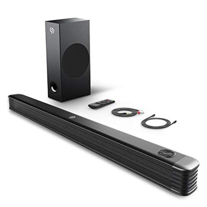 BOMAKER 2.1 Channel Soundbar with Wireless Subwoofer, 150W