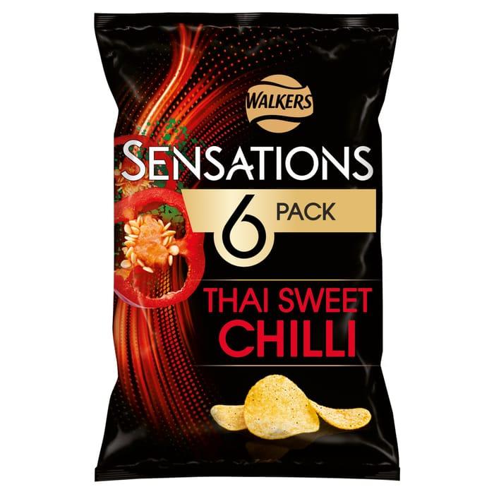 2 X Walkers Sensations Thai Chilli 6X25g