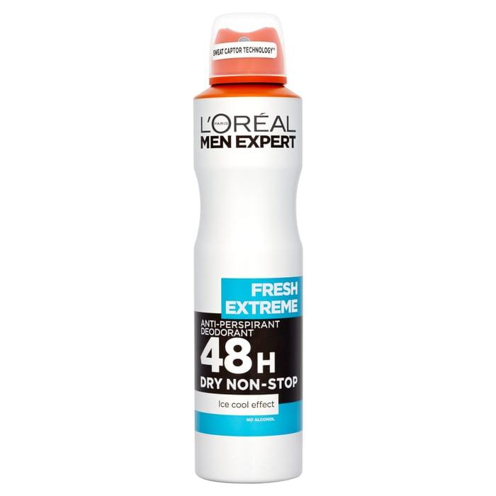2 X LOreal Men Expert Fresh Extreme Deodorant 250Ml
