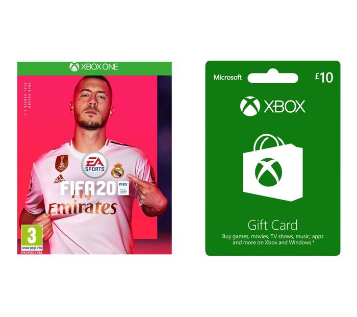 MICROSOFT Xbox Live £10 Gift Card with FIFA 20 Bundle