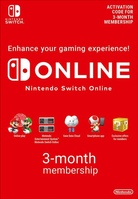 Nintendo Switch Online 3 Months (90 Day) Membership £3.85 at ShopTo