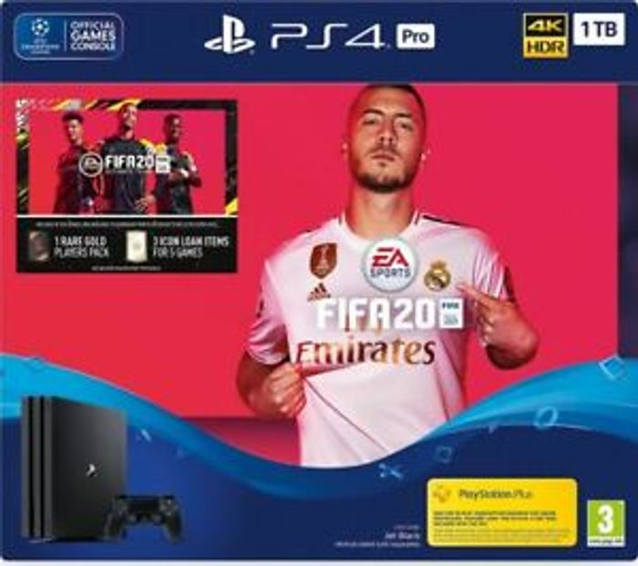 2 LEFT! SONY PlayStation 4 Pro with FIFA 20 - 1 TB (Currys on eBay)