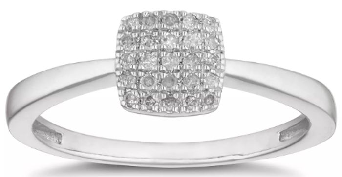 Cheap Silver Diamond Cluster Ring at H Samuel, Only £149