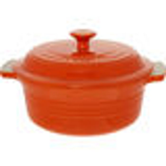 LE CREUSET Volcanic Orange Casserole Dish 10x20cm
