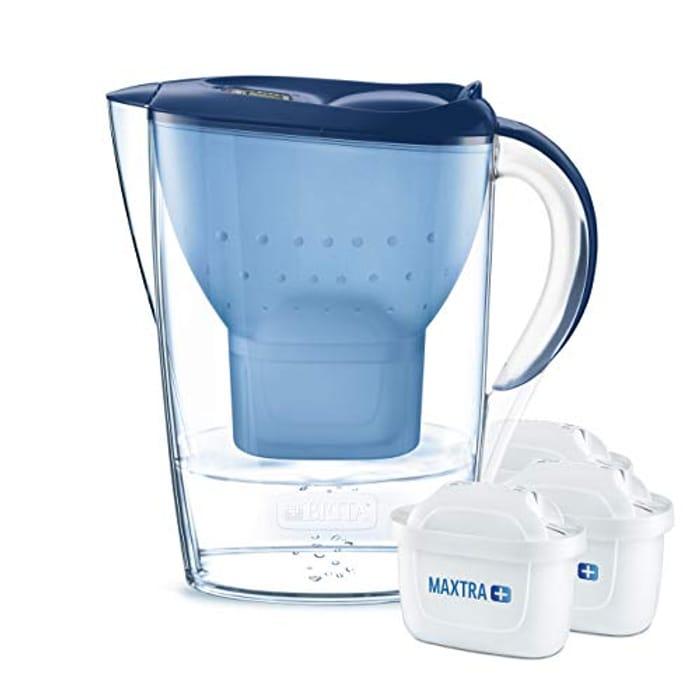 Best Ever Price! BRITA Marella Water Filter Jug Starter Pack, Includes 3 MAXTRA+