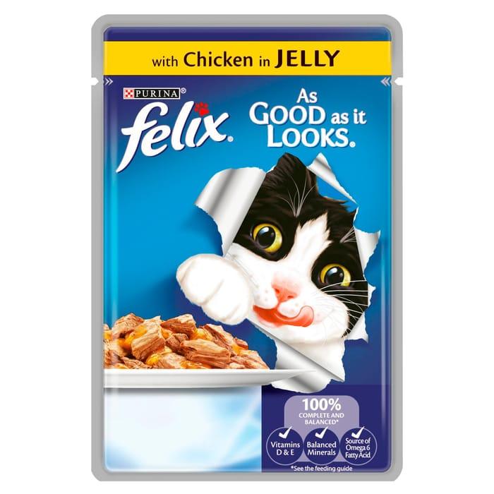 3 X Felix Pouch as Good as It Looks Chicken in Jelly 100G