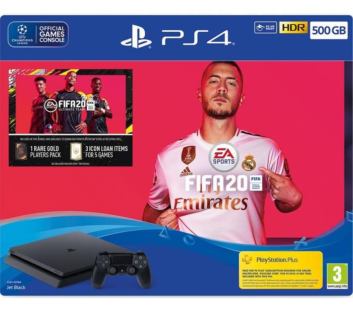 SONY PlayStation 4 with FIFA 20 - 500 GB