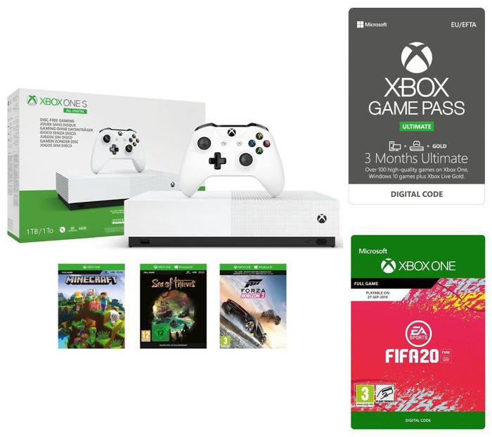 *SAVE over £100* Xbox One S All-Digital Edition FIFA 20, *MEGA BUNDLE*