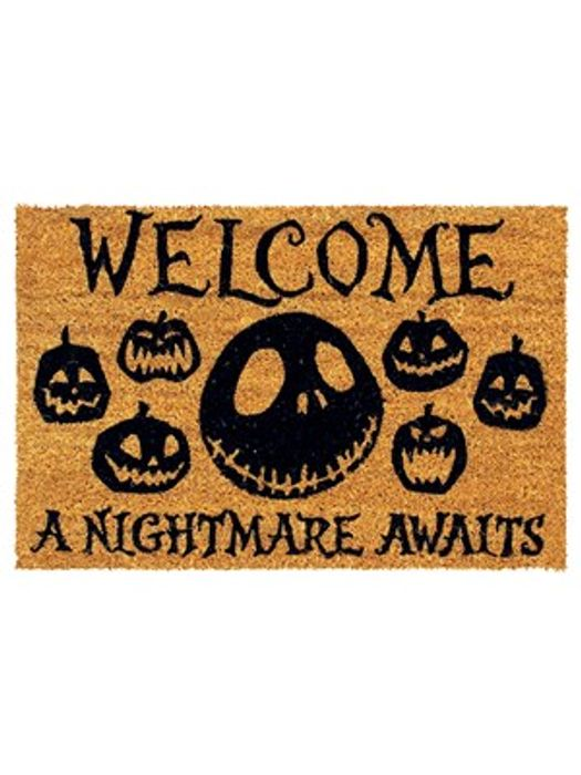 Nightmare before Christmas a Nightmare Awaits Door Mat