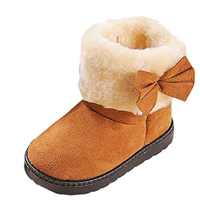 First Boots Cute Bowknot Decoration Warm Comfortable Snow Boots(1-6Age)