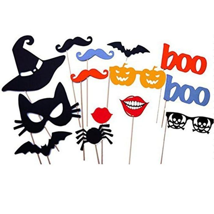 14PCS DIY Halloween Party Card Masks at Amazon - Only £0.99!