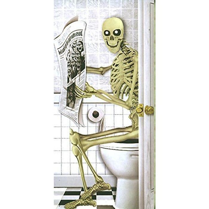 Halloween Door Poster Skeleton - Only £1.29!