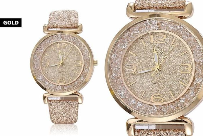 Ladies Sparkle Crystal Watch - 4 Colours!