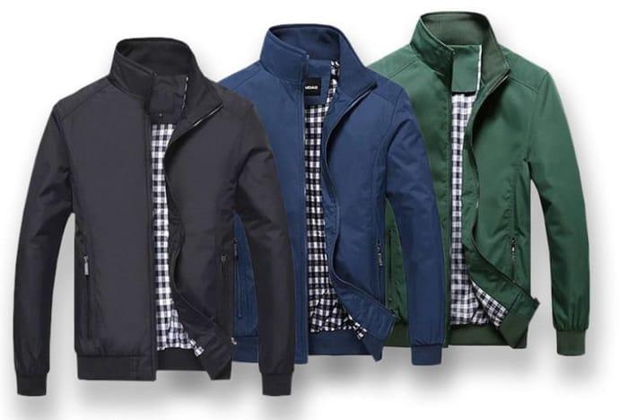 Mens Harrington Casual Jacket 5 Sizes & 3 Colours!