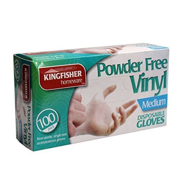 Kingfisher Powder Free Disposable Viny Glove 100