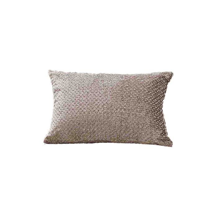 SIENNA HOME GLITTER VELVET SPARKLE CUSHION-CHAMPAGNE - Only 4.99!