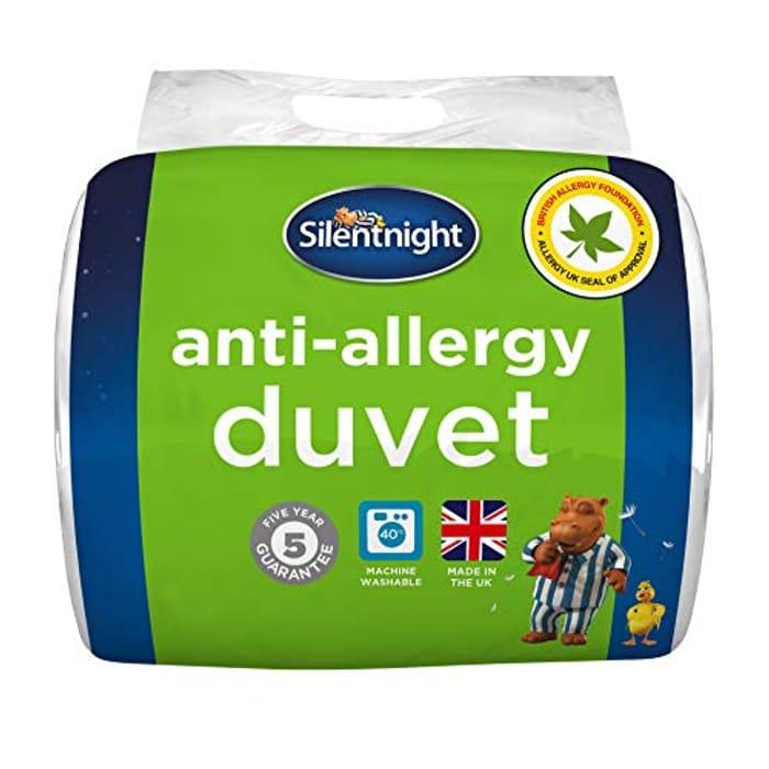 Silentnight Anti-Allergy 13.5 Tog Duvet, Microfibre, White, Double