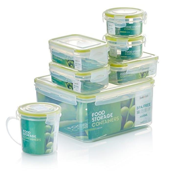 Zo&Mii Food Containers, Premium 7 Piece,Food Storage